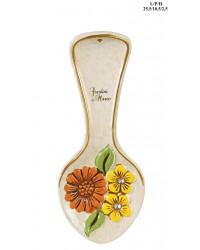 Poggia mestolo in ceramica linea fiori