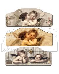 Capezzale angeli in legno 50 X 70 cm.