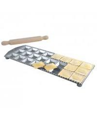 Ravioliera in alluminio 36 ravioli + mattarello...